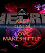 KEEP CALM AND LOVE MAKESHIFTLP  - Personalised Poster A1 size