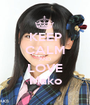 KEEP CALM AND LOVE Mako - Personalised Poster A1 size