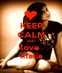 KEEP CALM AND love  malia - Personalised Poster A1 size