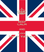KEEP CALM AND Love Marcel Valdhano! - Personalised Poster A1 size