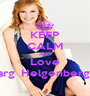 KEEP CALM AND Love Marg  Helgenberger - Personalised Poster A1 size
