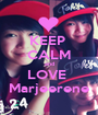 KEEP  CALM and LOVE  Marjeerene - Personalised Poster A1 size
