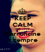 KEEP CALM AND LOVE Marroncine x sempre - Personalised Poster A1 size