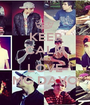 KEEP CALM AND LOVE MC DAVO - Personalised Poster A1 size