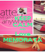 KEEP CALM AND Love MEMORATA - Personalised Poster A1 size