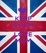 KEEP CALM AND LOVE MGM - Personalised Poster A1 size