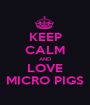 KEEP CALM AND LOVE MICRO PIGS - Personalised Poster A1 size