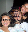 KEEP CALM AND LOVE MINHAS FILHAS - Personalised Poster A1 size