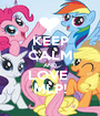 KEEP CALM AND LOVE  MLP! - Personalised Poster A1 size
