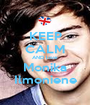 KEEP CALM AND love Monika Ilmoniene - Personalised Poster A1 size