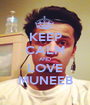 KEEP CALM AND LOVE MUNEEB - Personalised Poster A1 size