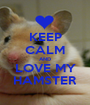 KEEP CALM AND LOVE MY HAMSTER - Personalised Poster A1 size