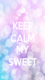 KEEP CALM AND LOVE MY SWEET - Personalised Poster A1 size