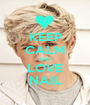 KEEP CALM AND LOVE NAIL - Personalised Poster A1 size
