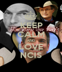 KEEP CALM AND LOVE NCIS - Personalised Poster A1 size