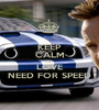 KEEP CALM AND LOVE NEED FOR SPEED - Personalised Poster A1 size