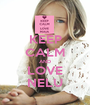 KEEP CALM AND LOVE NELU - Personalised Poster A1 size