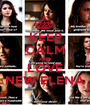 KEEP CALM AND LOVE NEW ELENA - Personalised Poster A1 size