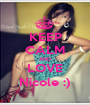 KEEP CALM AND LOVE Nicole :) - Personalised Poster A1 size