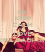 KEEP CALM AND LOVE NINA, PAUl, IAN - Personalised Poster A1 size