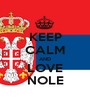 KEEP CALM AND LOVE NOLE - Personalised Poster A1 size