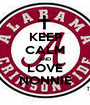 KEEP CALM AND LOVE NONNIE - Personalised Poster A1 size