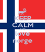 KEEP CALM AND love norge - Personalised Poster A1 size