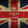 KEEP CALM AND LOVE Noura - Personalised Poster A1 size