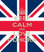 KEEP CALM AND LOVE ODHORA - Personalised Poster A1 size