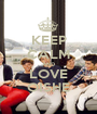 KEEP CALM AND LOVE OISHE - Personalised Poster A1 size