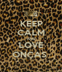 KEEP CALM AND LOVE ONÇAS  - Personalised Poster A1 size