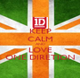 KEEP CALM AND LOVE ONE DIRETION - Personalised Poster A1 size