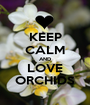 KEEP CALM AND LOVE ORCHIDS - Personalised Poster A1 size