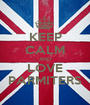 KEEP CALM AND LOVE PARMITERS - Personalised Poster A1 size