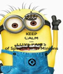 KEEP CALM AND LOVE PARTS of Speech With Minions - Personalised Poster A1 size