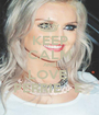 KEEP CALM AND LOVE  PERRIE . E  - Personalised Poster A1 size