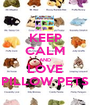 KEEP CALM AND LOVE PILLOW PETS - Personalised Poster A1 size