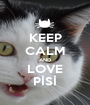 KEEP CALM AND LOVE PİSİ - Personalised Poster A1 size
