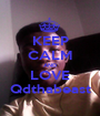 KEEP CALM AND LOVE Qdthabeast - Personalised Poster A1 size