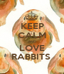 KEEP CALM AND LOVE RABBITS  - Personalised Poster A1 size