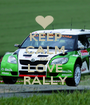 KEEP CALM AND LOVE RALLY - Personalised Poster A1 size