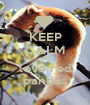KEEP CALM AND love red pandas - Personalised Poster A1 size