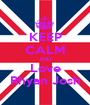 KEEP CALM AND Love Rhyan Josh - Personalised Poster A1 size