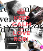 KEEP CALM AND LOVE ROBI  - Personalised Poster A1 size