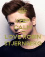 KEEP CALM AND LOVE ROBIN STJERNBERG - Personalised Poster A1 size