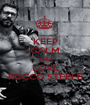 KEEP CALM AND LOVE ROCCO STEELE - Personalised Poster A1 size