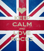 KEEP CALM AND LOVE ROCKS - Personalised Poster A1 size