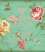 KEEP CALM AND LOVE RONEL B - Personalised Poster A1 size