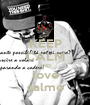 KEEP CALM AND love salmo - Personalised Poster A1 size