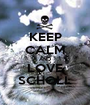 KEEP CALM AND LOVE SCHOLL - Personalised Poster A1 size